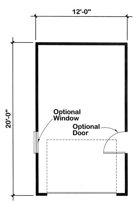 one stall garage dimensions garage plan 6001 at familyhomeplans