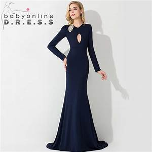 robe de soiree 2015 new arrival navy blue formal evening With robe de soirée 2015