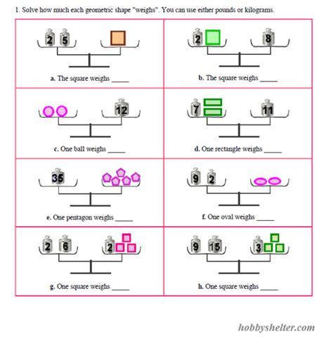 pan balance problems kiddo shelter educative puzzle