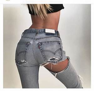 Jeans ripped jeans denim designer high waisted jeans tumblr tumblr girl tumblr outfit ...
