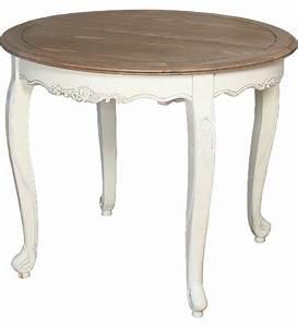 Mesa comedor redonda extensible blanca tapa roble La Galería de Almonte