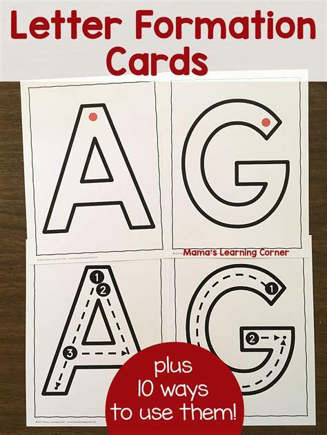 letter formation cards  preschool  kindergarten