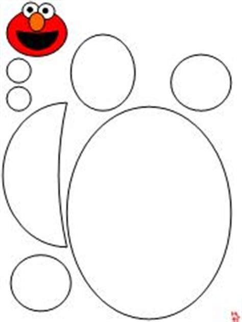 Elmo Cut Out Template by 100 Day Activities All About Me