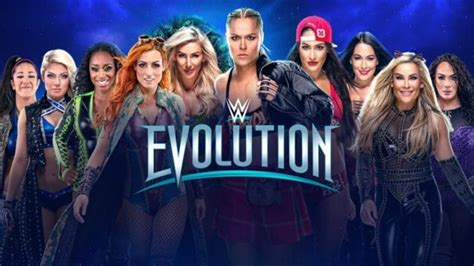 spoiler  title match set  wwe evolution pay