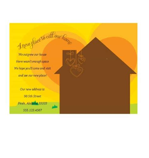 house template for photo card 40 free printable housewarming invitation templates