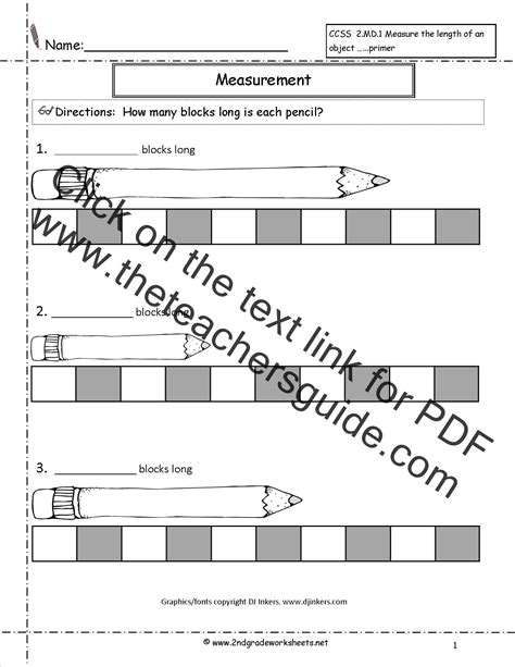 Non Standard Measurement Worksheets | Search Results