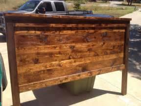 Distressed Wood Headboard