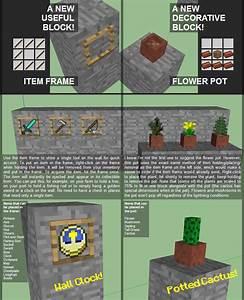 MaJ Minecraft 14 Bientot Les Cadres Et Les Pots De