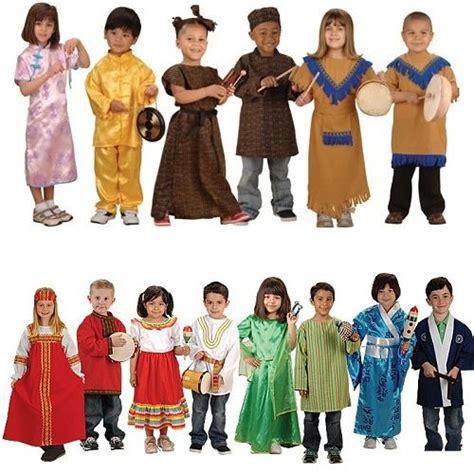 set of 14 costumes from around the world around the