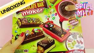 Schokoriegel Selber Machen : schokoriegel selber machen mit chocolate bar maker eigene schokolade gestalten unboxing ~ Frokenaadalensverden.com Haus und Dekorationen