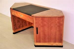 Art Deco Schreibtisch : art deco schreibtisch mit hexagonaler tischplatte aus kirsche und mahagoniholz ebay ~ Orissabook.com Haus und Dekorationen