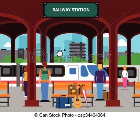 Station Clipart Clipart Railway Station Pencil And In Color