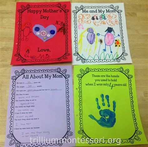 montessori mothers day printables collection