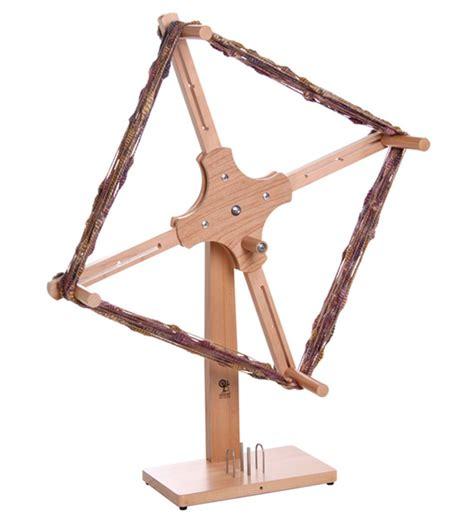 ashford skeiner  lacquered  standing yarn winder
