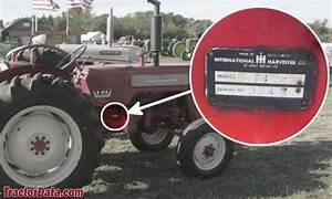 International 350 Utility Tractor Serial Number