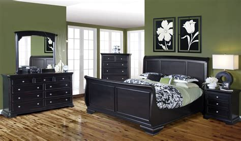 black bedroom set maryhill rubbed black sleigh bedroom set from classics