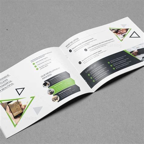 Plain Brochure Template by Plain Landscape Brochure Template 000558 Template Catalog