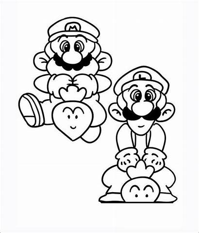 Mario Coloring Pages Printable Template Templates Colouring