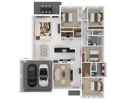 house with 4 bedrooms 4 bedroom apartment house plans