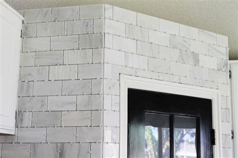 carrara marble subway tile kitchen backsplash that hton carrara marble backsplash done zo chris 9380