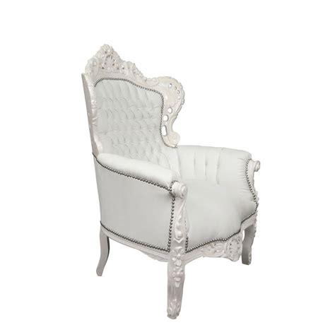 fauteuil baroque blanc fauteuils chaises baroques