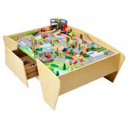 train track wooden activity table plum play
