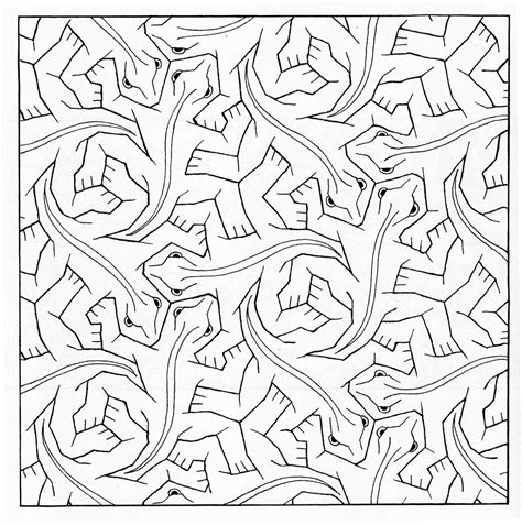Kleurplaat Esher by Escher Printable Coloring Pages Geometr 237 A