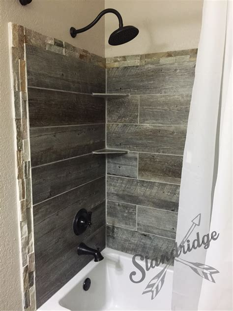diy bathroom shower ideas rustic bathroom barnwood ceramic tile house