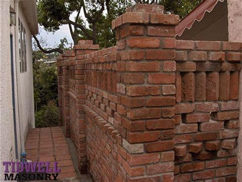 brick patio screen wall craftsman exterior san diego