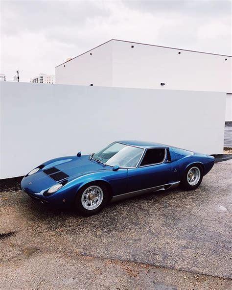 Lamborghini Miura | Lamborghini miura, Blue lamborghini ...