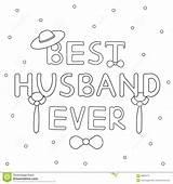 Husband Coloring Gezeichneter Ever Bindung Ehemanns Hut Immer Beste Legame Testo Migliore Disegnato Marito Cappello Sempre Mano Ed Template sketch template
