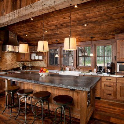 log cabin kitchens cabinets ideas