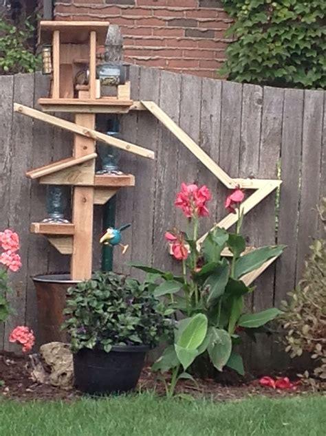 chipmunk bird feeder   garden garden landscape