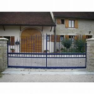 Portail Alu Coulissant 3m : portail coulissant fer forg cassis bleu 3m ~ Edinachiropracticcenter.com Idées de Décoration