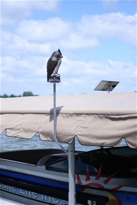 lake lite boat lift great horned owl scare kit ll blo owl
