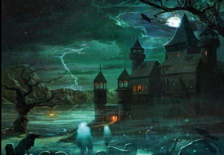 haunted house fantasy abstract background wallpapers
