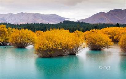 Bing Daily Wallpapers Zealand Island Lake Fed