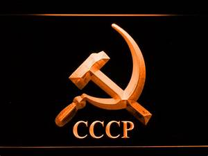 Hammer and Sickle CCCP LED Neon Sign