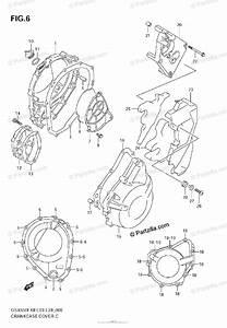 Suzuki Motorcycle 2008 Oem Parts Diagram For Crankcase
