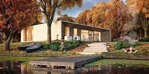 Dom Nad Jeziorem : nowoczesny dom pasywny w bieli i drewnie inspiracja homesquare ~ Markanthonyermac.com Haus und Dekorationen