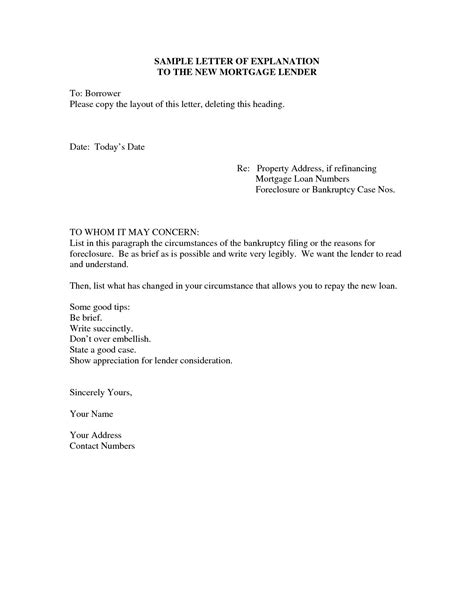 foreclosure letter template examples letter cover