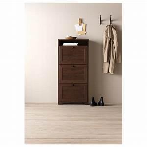 Casier A Chaussure : brusali armoire chaussures 3 casiers brun 61x130 cm ikea ~ Nature-et-papiers.com Idées de Décoration