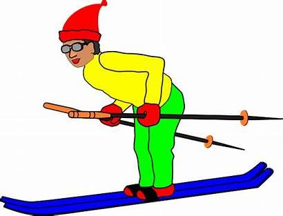 Skier Clip Clipart Clker Vector