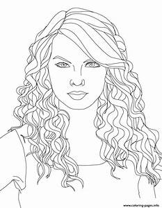 Taylor Swift 2 Coloring Pages Printable