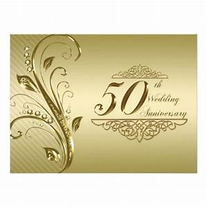50th wedding anniversary invitation card 65quot x 875 With 50th wedding anniversary cards