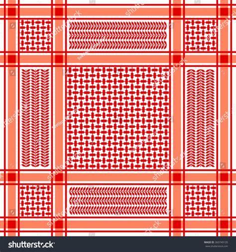 stripped keffiyeh vector pattern geometric print stock