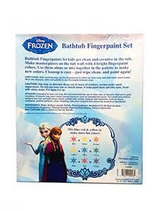 disney frozen bathtub fingerpaint set mess free soap