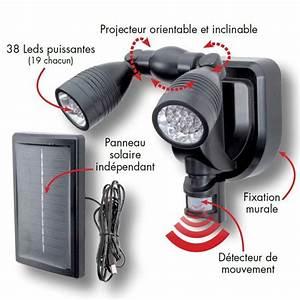 Projecteur Exterieur Double : lampe double projecteur solaire orientable 38 leds avec ~ Edinachiropracticcenter.com Idées de Décoration