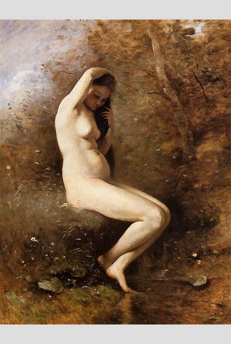 Venus Bathing, c.1873 - c.1874 - Camille Corot - WikiArt.org