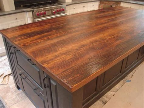 fabulous wood plank countertop stunning